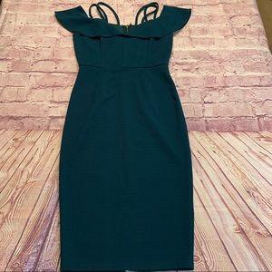 Haute Monde Womens Small Teal Green Sexy Dress